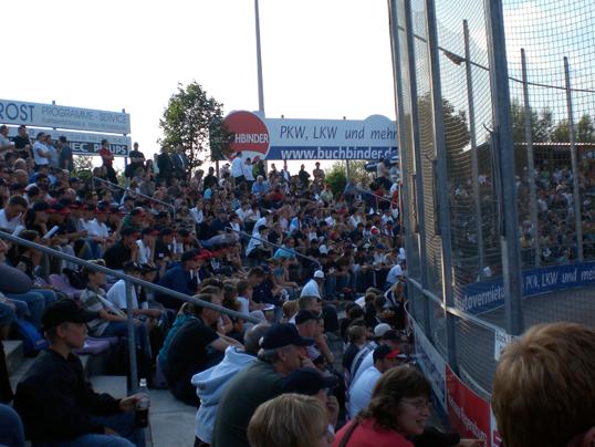 Baseball-Freundschaftsspiel in Regensburg