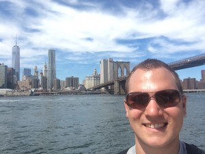 Selfie in New York: TowerOne + Brooklyn Bridge
