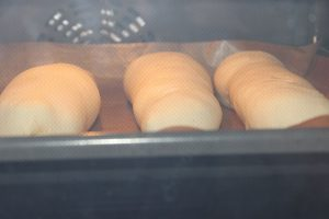 Hot Dog Buns im Ofen