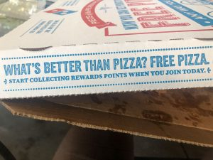 Gratis Pizza von Dominos