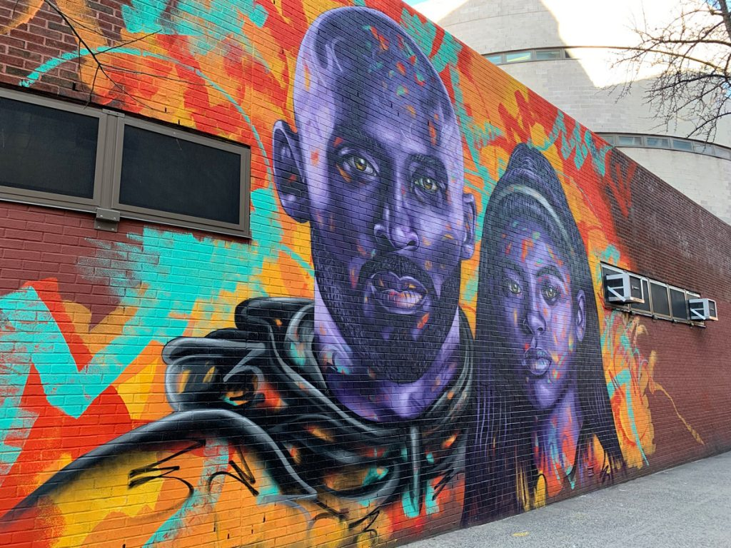Kobe Bryant Mural in New York