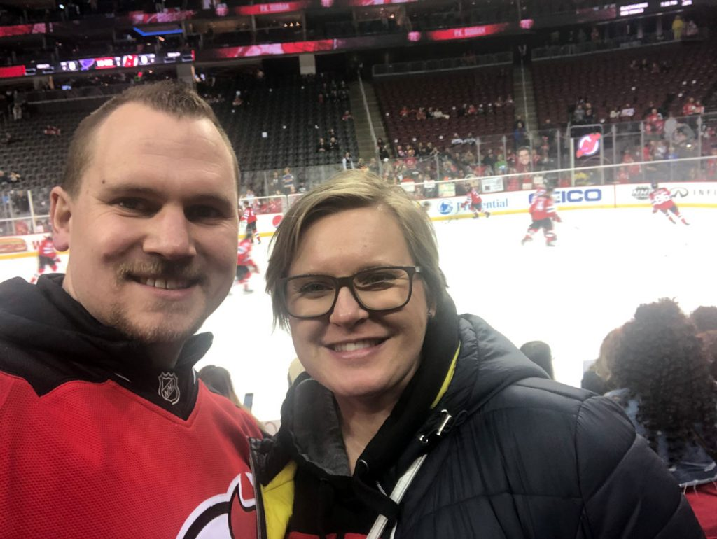 Selfie beim Devils Spiel